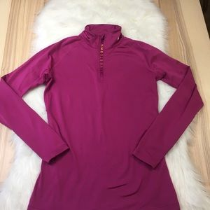 Nike Dri-Fit Livestrong Magenta 1/4 Zip Pull Over